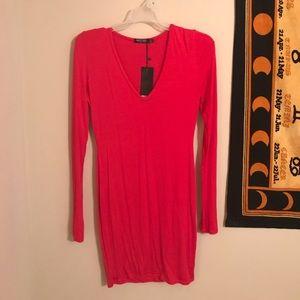 Red Nasty Gal Bodycon Dress